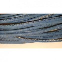 Korkband rund 3 mm dunkelblau