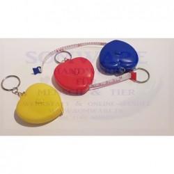 Schlüsselanhänger Maßband Herz