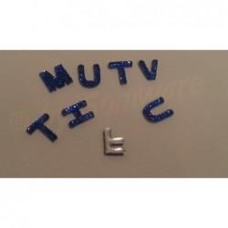 Acryl Buchstaben Mix Blau