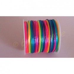 Satinband Regenbogen 2mm