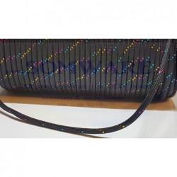 Polycord Black Rainbow Glitzer
