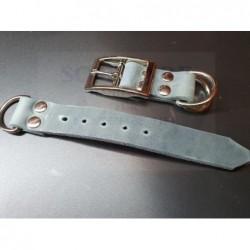 Fettleder Adapter Grau 25mm