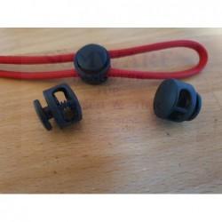 Kordelstopper 2-Loch Button sw