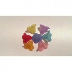 Perlenkappen Acryl pastell