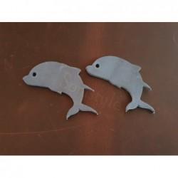 Fettleder Stanzteil Delfin