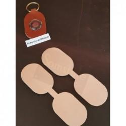 Blankleder-Stanzteil SA oval